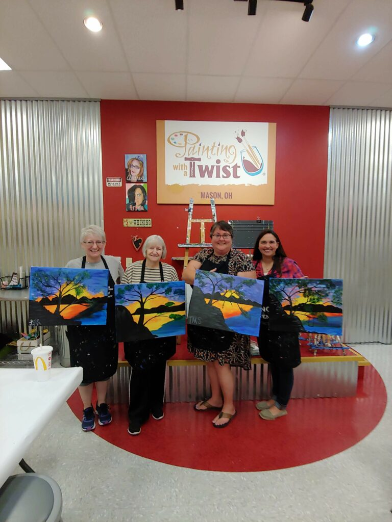Painting with a Twist - Laquita, Sarah, Tessa and Ashley